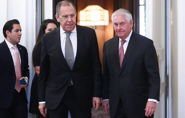 Russian Foreign Minister Sergey Lavrov and US Secretary of State Rex Tillerson