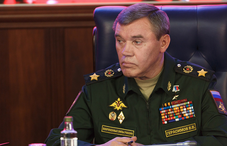 General Valery Gerasimov, Russia's First Deputy Defence Minister and Chief of the General Staff of the Russian Armed Forces