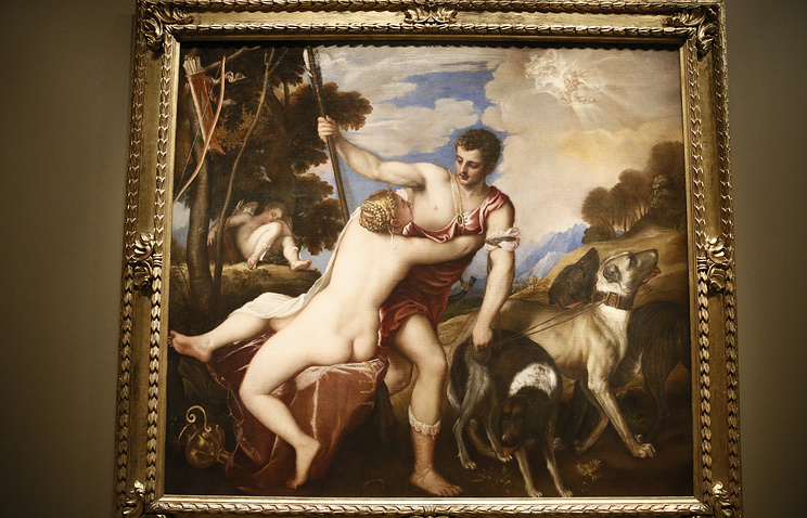 Venus and Adonis by Titian