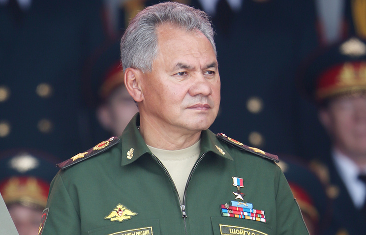 Russia's Minister of Defense Sergey Shoigu