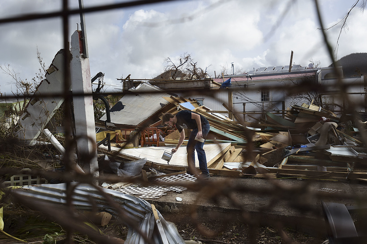 Aftermath of Hurricane Irma, in St. Martin
