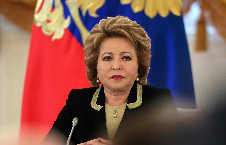 Speaker of the Russian parliament's upper house Valentina Matviyenko