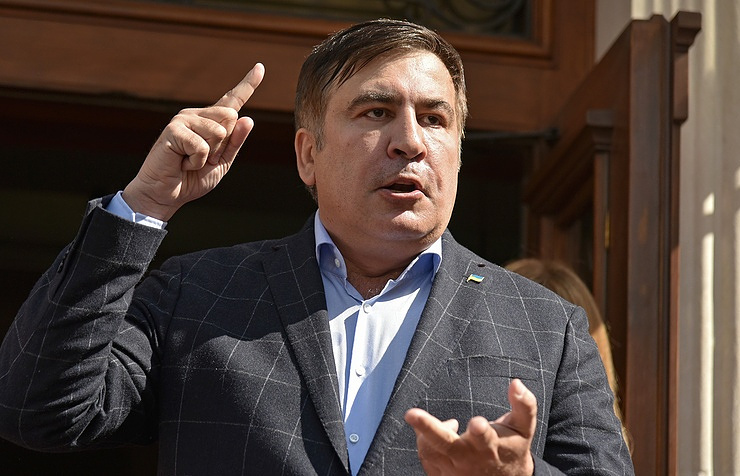 The leader of the New Forces Movement Mikhail Saakashvili