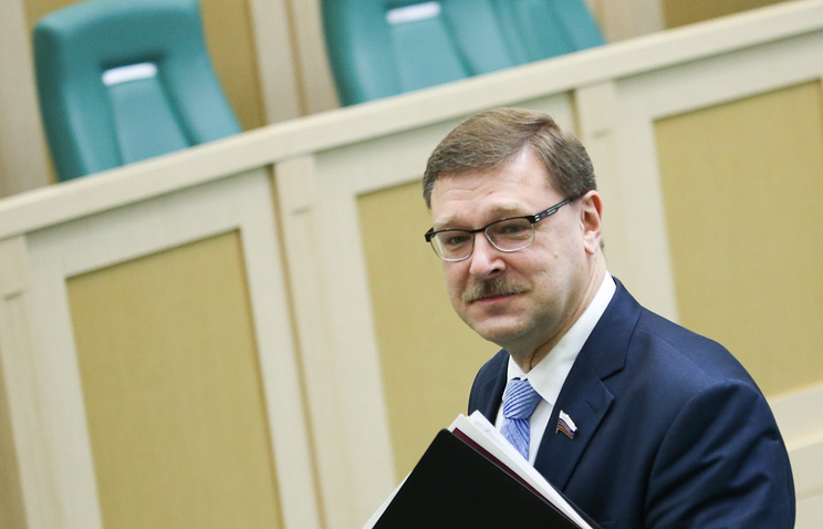 The head of the international affairs committee at Russia's upper house Konstantin Kosachev