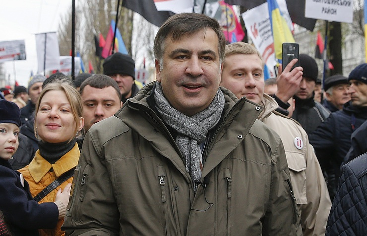 Former governor Mikheil Saakashvili 'forces entry' to Ukraine