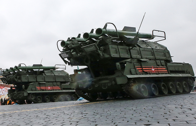 Buk-M2 air defense systems