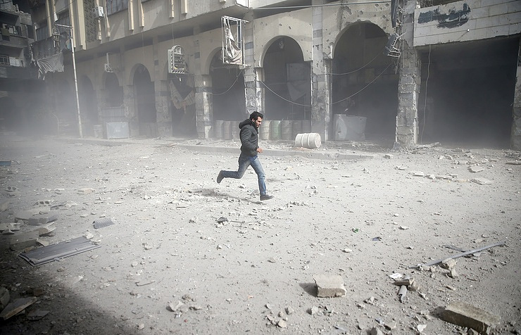 Damascus after shelling on February 6