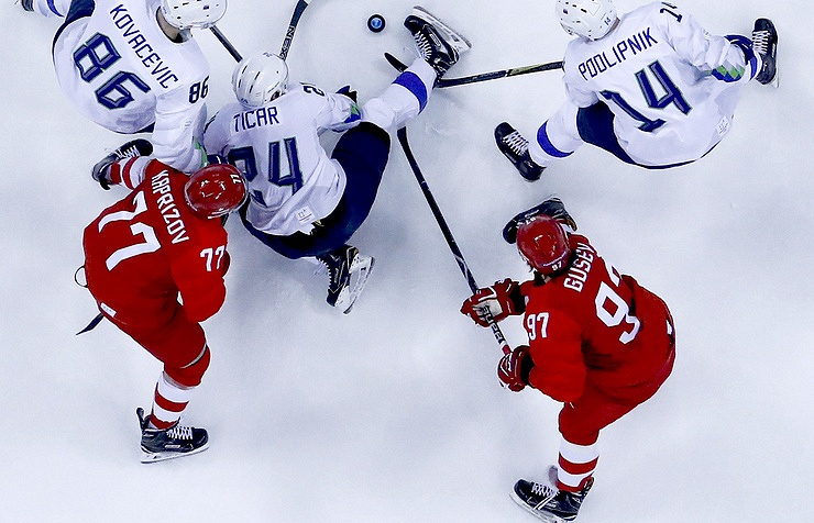 Russian Federation beats USA men in Olympic hockey, 4-0