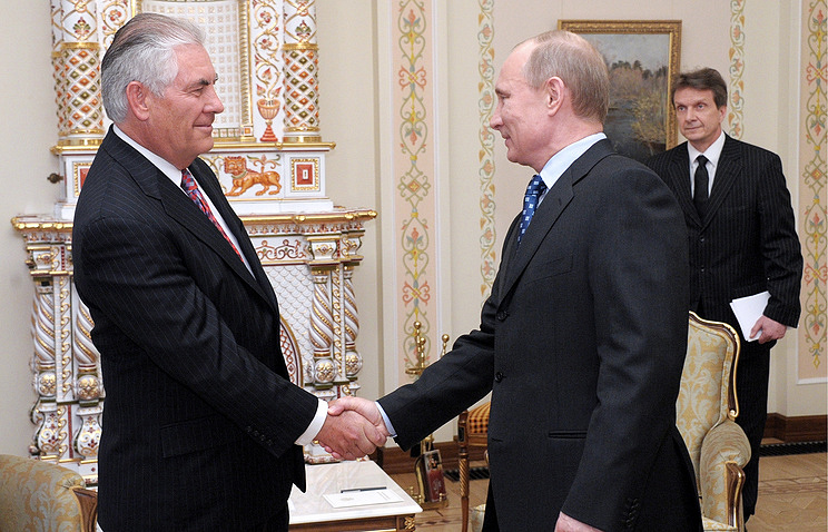 US Secretary of State Rex Tillerson and Russian President Vladimir Putin