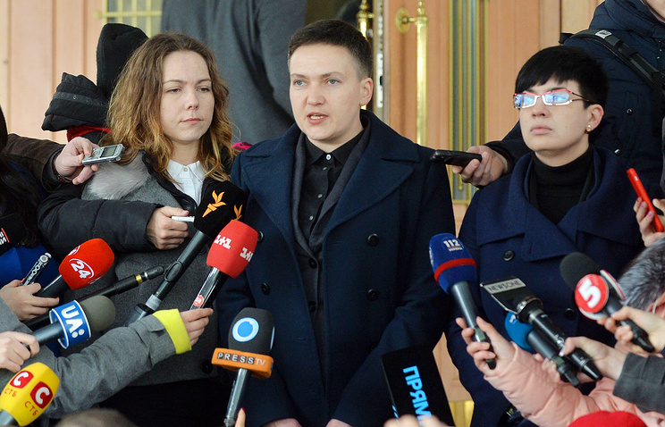 Ukraine MP Nadezhda Savchenko says military coup is 'anticipated event'