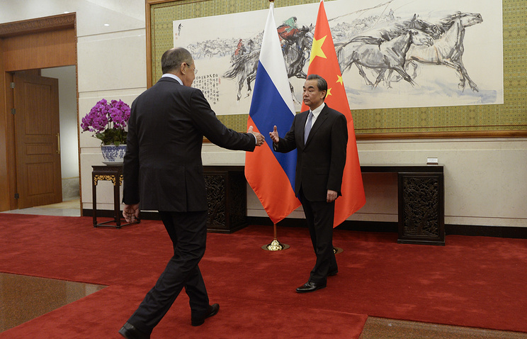 Russian Foreign Minister Sergey Lavrov and Chinese Foreign Minister Wang Yi, 2017