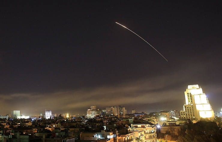 Syrian air defences shoot down missiles in Homs