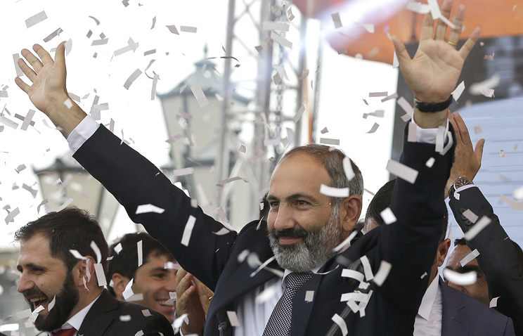 Newly elected Prime Minister of Armenia Nikol Pashinian