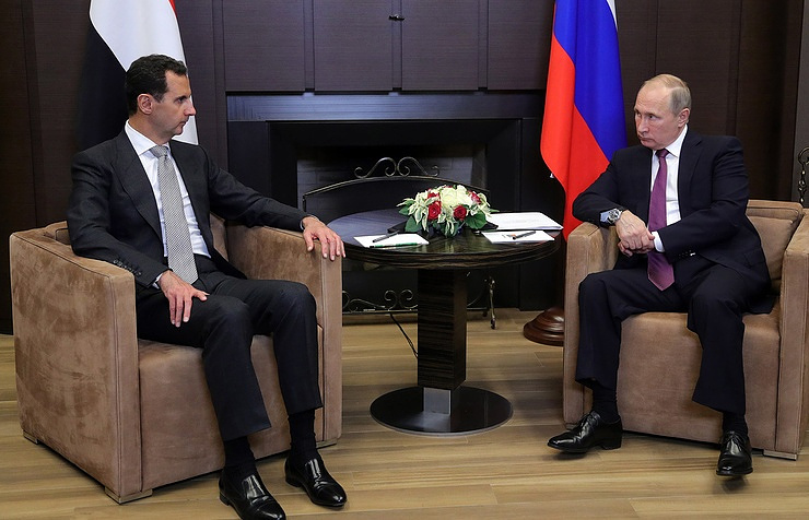 Assad meets with Putin in Russian Federation