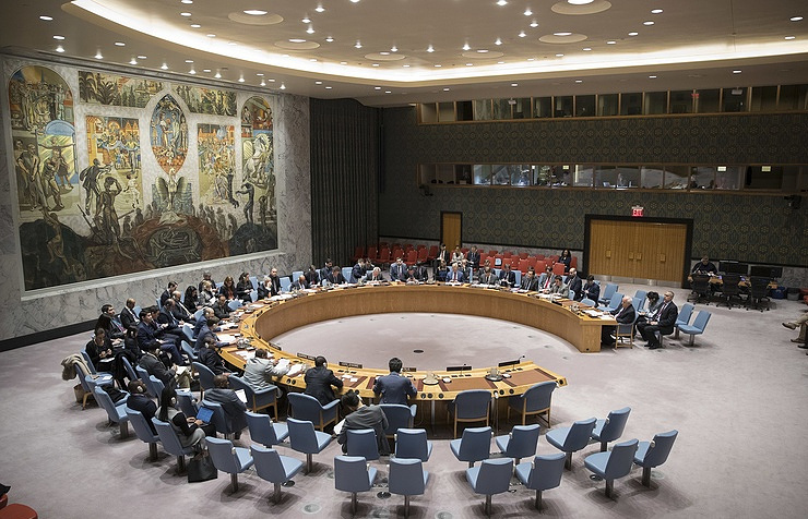 A UN Security Council session