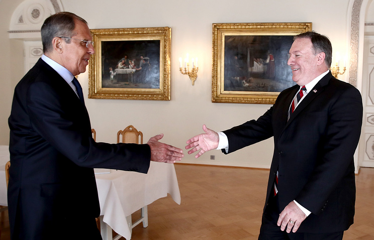 Russian Foreign Minister Sergey Lavrov and US Secretary of State Michael Pompeo