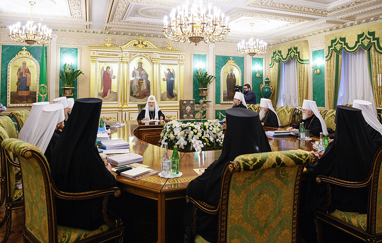 The meeting of the Holy Synod of the Russian Orthodox Church