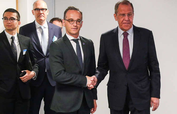 German Foreign Minister Heiko Maas and Russian Foreign Minister Sergey Lavrov