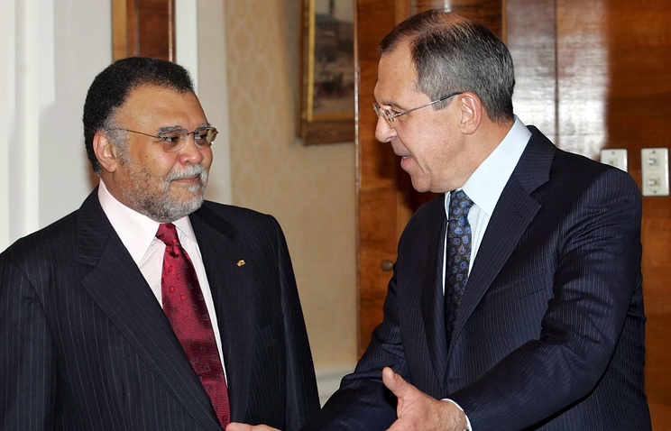 Prince Bandar bin Sultan and Russia's Foreign Minister Sergei Lavrov