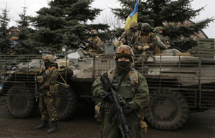 Ukrainian army soldiers