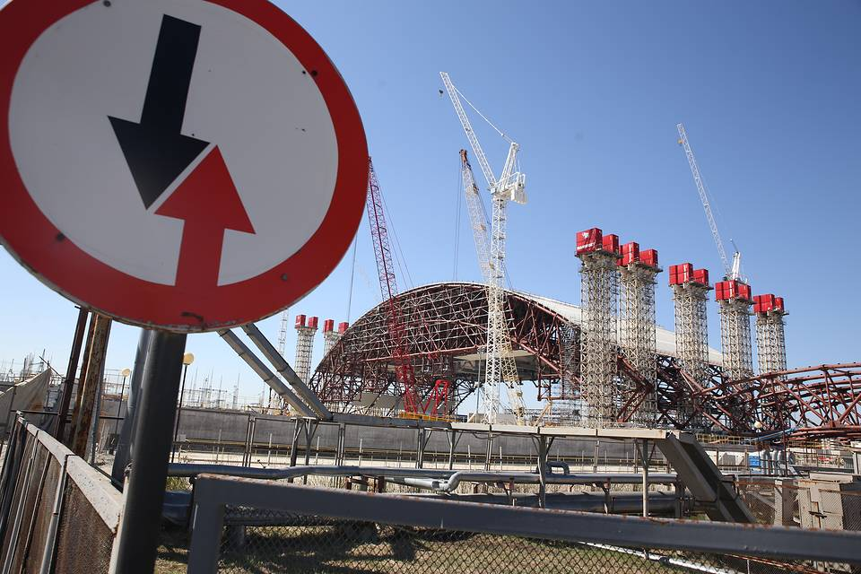 Сonstruction of a new sarcophagus covering Reactor 4 of the Chernobyl Nuclear Power Plant, 2013  ITAR-TASS