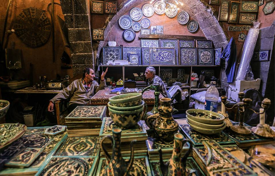 An antique ceramics shop in the Syrian capital of Damascus, April 10, 2016  Valery Sharifulin/TASS