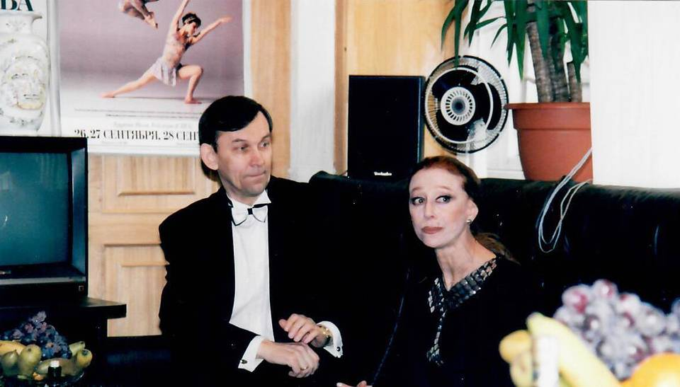 With Maya Plisetskaya, 1997 Personal archive of Vladimir Urin