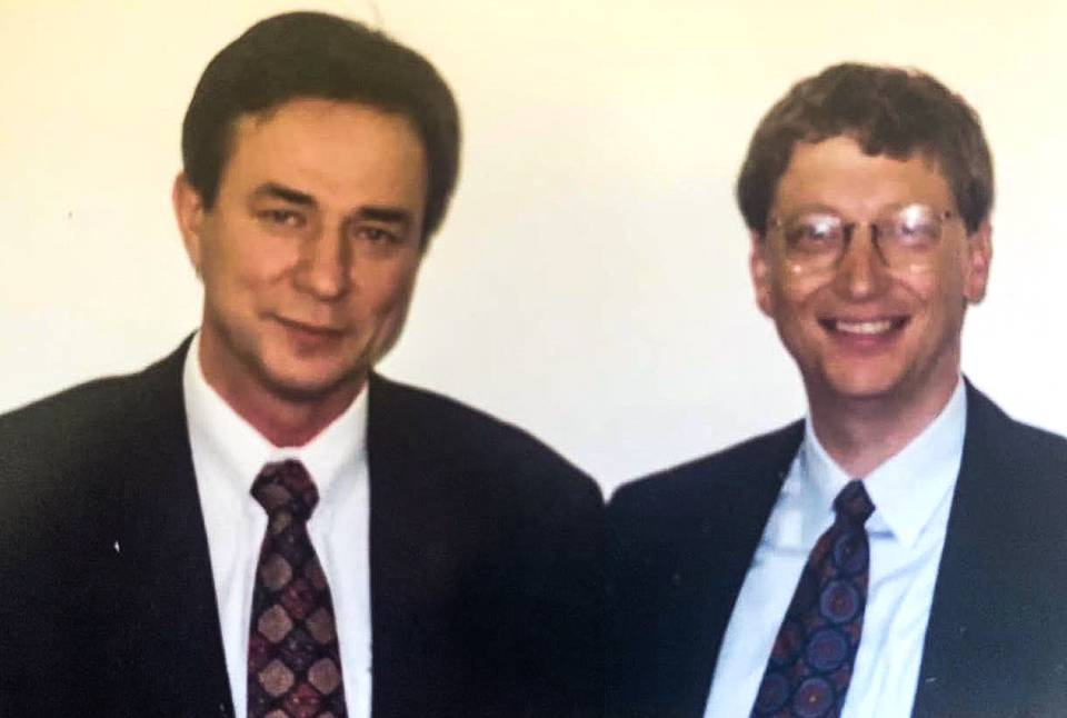 With Bill Gates in Moscow, 1997 Personal archive of Alexander Galitsky